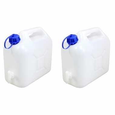 2x camping jerrycans 5 liter kopen