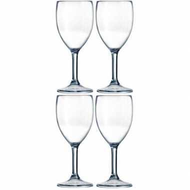 4x camping outdoor san kunststof wijnglas 300 ml kopen