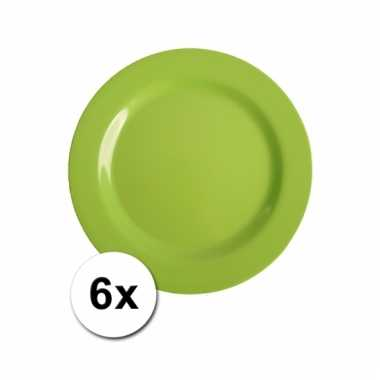6 Groene camping bordjes 20 cm kopen