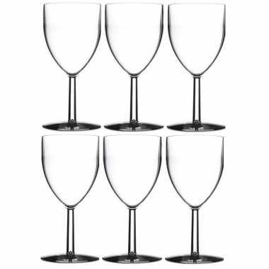 6x camping wijn glazen onbreekbaar kopen
