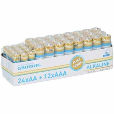 Camping 144x voordeelset batterijen aa en aaa alkaline kopen