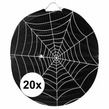 Camping 20 papieren spinnenweb lampionnen 22 cm kopen