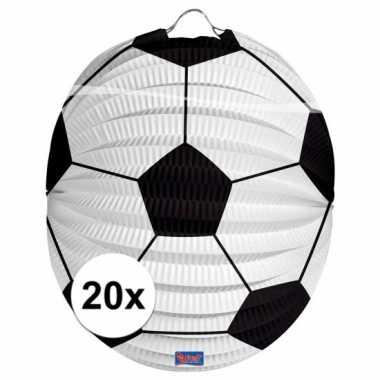 Camping 20 papieren voetbal lampions 22 cm kopen