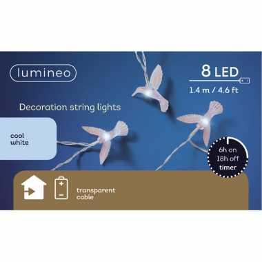 Camping 2x stuks draadverlichting kolibrie lampjes 140 cm kopen