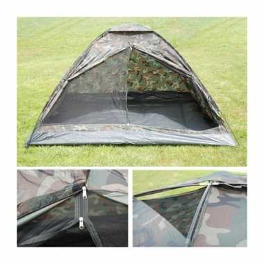Camping  3-persoons camouflage tent kopen