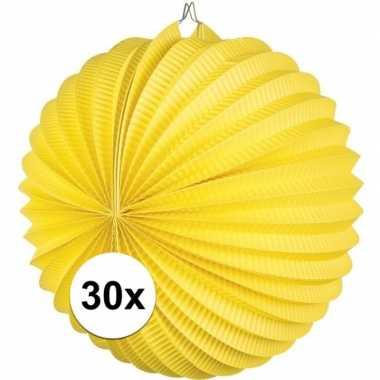 Camping 30 gele feest lampionnen papier kopen