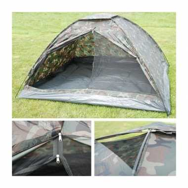 Camping  4-persoons camouflage tent kopen