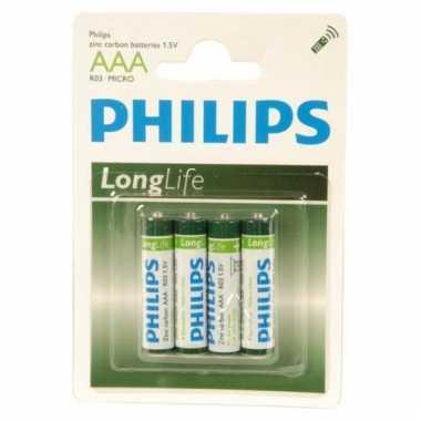 Camping 4 stuks philips aaa batterijen voor lage prijs kopen