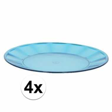 Camping 4x blauw picknick bord 25 cm kopen
