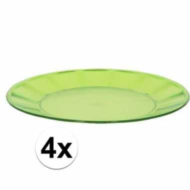 Camping 4x groen picknick bord 25 cm kopen