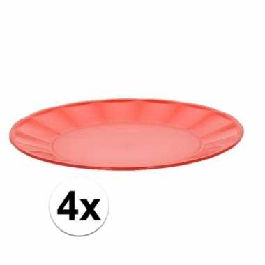 Camping 4x rood picknick bord 25 cm kopen