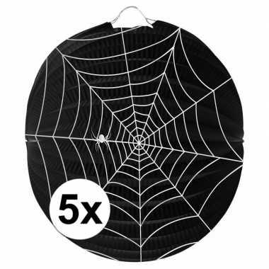 Camping 5 papieren spinnenweb lampionnen 22 cm kopen