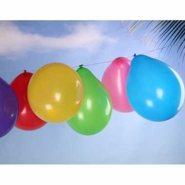 Camping  50 ballonnen met pomp en slinger kopen