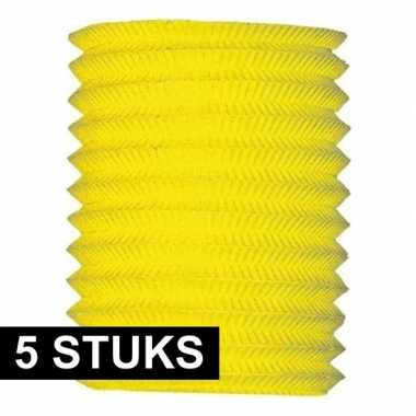Camping 5x gele treklampion 16 hoog kopen