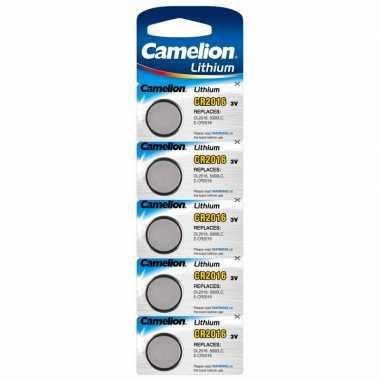Camping 5x knoopcel batterijen cr2016 3v camelion lithium kopen
