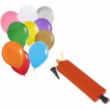 Camping ballonnen in verschillende kleuren met pomp kopen