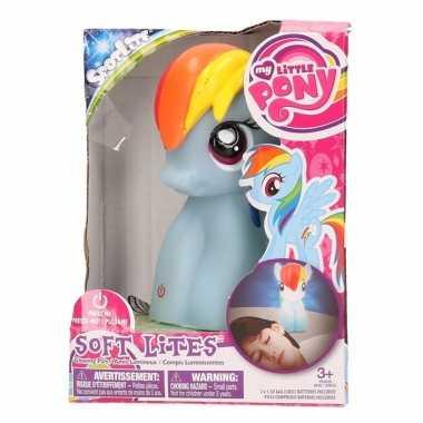 Camping blauw my little pony lampje/nachtlampje 15 cm kopen
