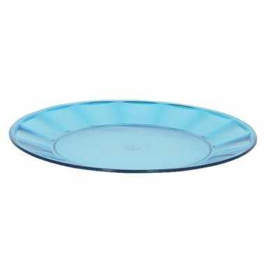 Camping blauw picknick bord 25 cm kopen