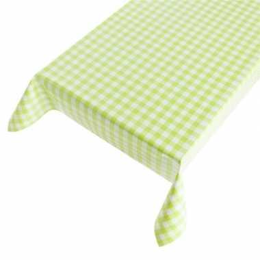 Camping blauw tafellaken met groene ruitjes 140 x 240 cm kopen