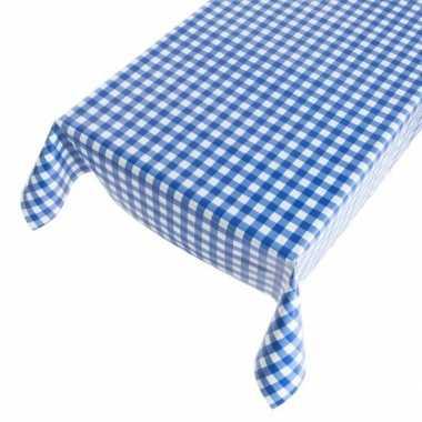 Camping blauwe ruit tafellaken 140 x 170 cm kopen