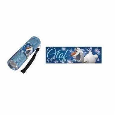 Camping blauwe zaklamp olaf frozen kopen