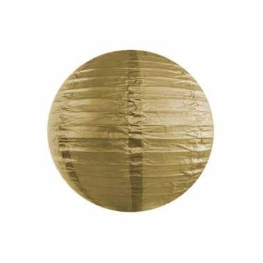 Camping  Bol lampion goud 35 cm kopen