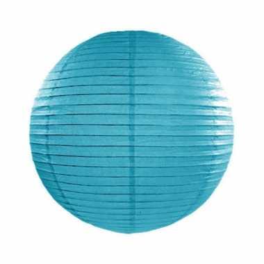 Camping  Bol lampion turquoise blauw 25 cm kopen