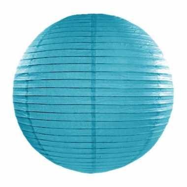 Camping  Bol lampion turquoise blauw 35 cm kopen