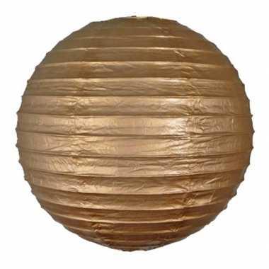 Camping  Bol lampionnen goud 25 cm kopen