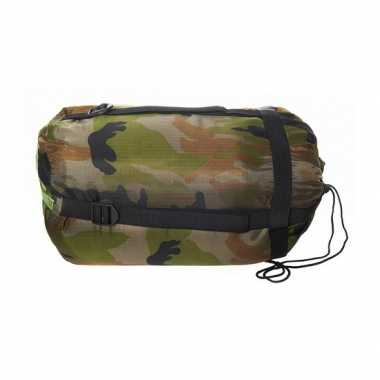 Camping camouflage print slaapzak kopen