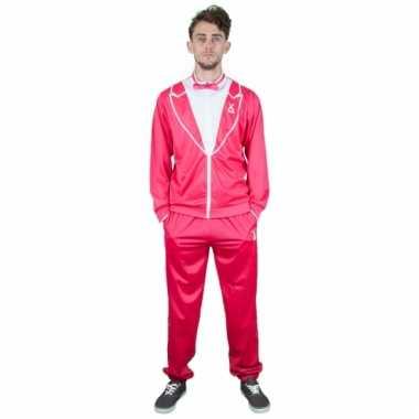Camping carnaval trainingspak roze smoking voor heren kopen