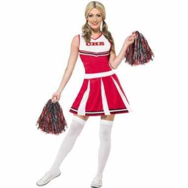 Camping  Cheerleader jurk met pompons kopen