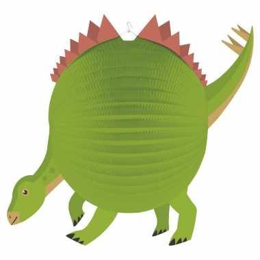 Camping dinosaurus feestje lampion 25 cm kopen