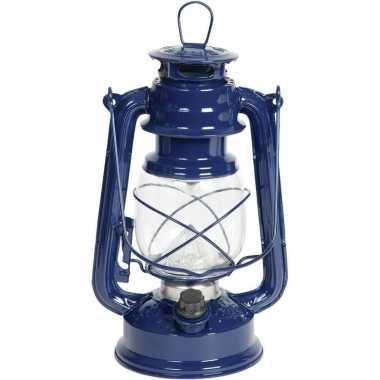 Camping draagbare led lamp blauw 24 cm kopen