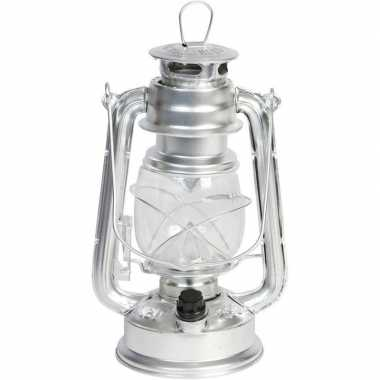 Camping draagbare led lamp zilver 24 cm kopen
