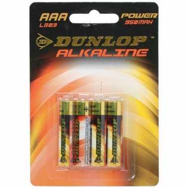 Camping dunlop batterijen 4 stuks aaa lr03 kopen