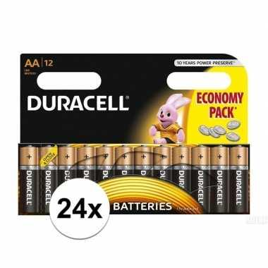 Camping duracell lr6 aa batterijen 24 stuks kopen