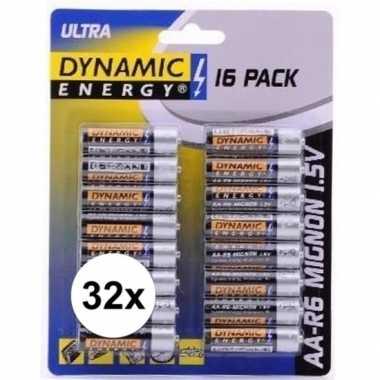 Camping dynamic energry lr6 aa batterijen 32 stuks kopen