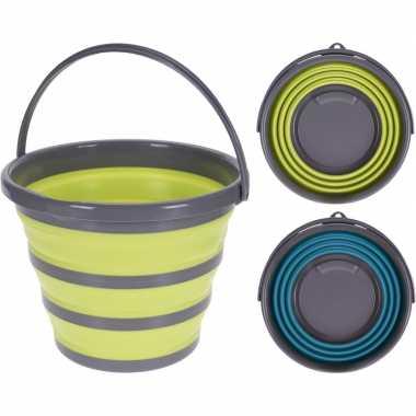 Camping emmer geel/grijs opvouwbaar kopen