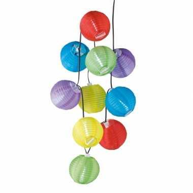 Camping feestelijke gekleurde lampenslinger 240 cm kopen