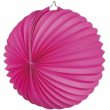 Camping fuchsia roze party lampionnen kopen