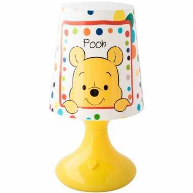 Camping geel disney winnie/tijgetje lampje/nachtlampje voor kinderen