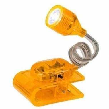 Camping geel ledlampje op klem 4 cm kopen