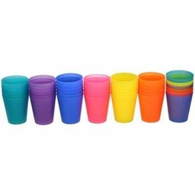 Camping gekleurde kinder limonade drinkbekers 100 ml 6 stuks kopen
