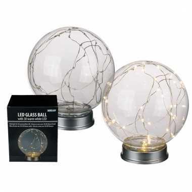 Camping glasbol lamp 30 lichtjes kopen