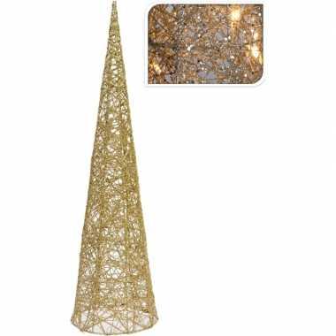 Camping gouden piramide lamp met glitters 60 cm kopen