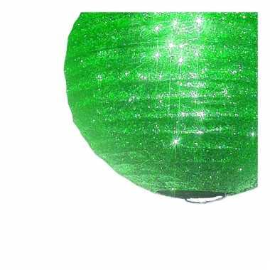 Camping  Groene glitter lampionnen 25 cm kopen