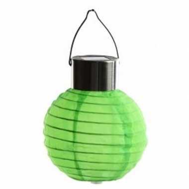 Camping groene lampion op zonne energie voor buiten kopen