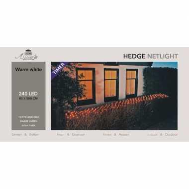 Camping haag verlichting lichtnet met timer 240 lampjes warm wit 500 cm kopen