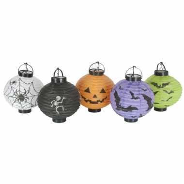 Camping  Halloween thema lampionnen 5 stuks kopen